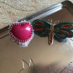 Dragon fly brooch and Resin Heart