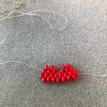 Partial beaded heart